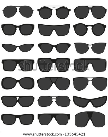 glasses and sunglasses vector