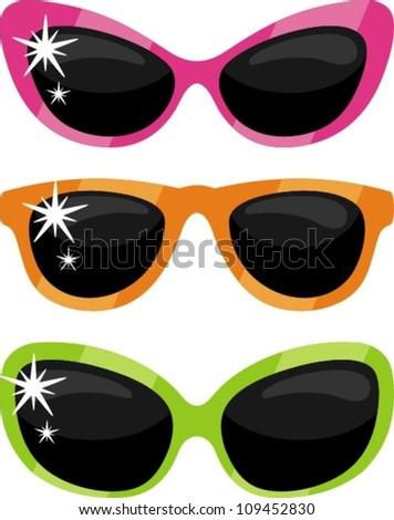 Glasses clip-art - stock vector