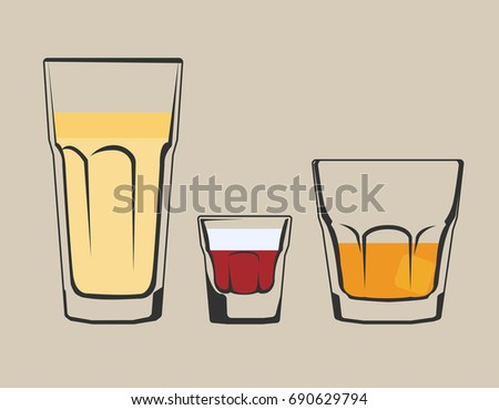 glasses for alcohol  highball