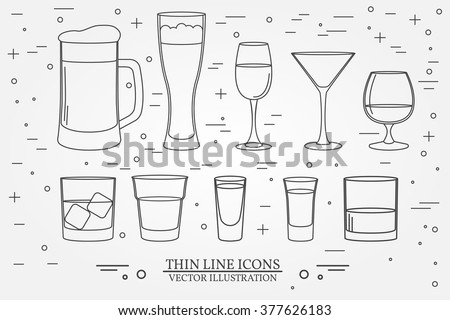 glasses for alcoholic drinks