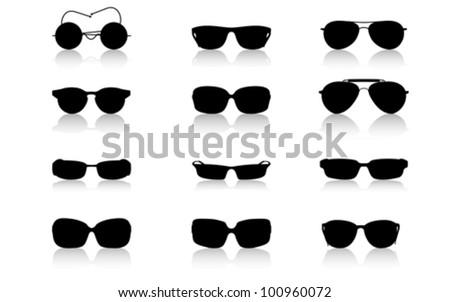 glasses frame set isolated on