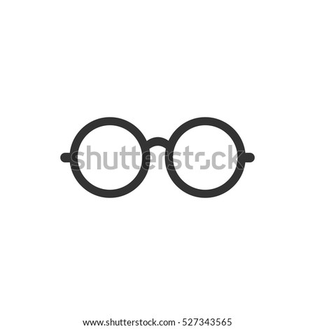 Glasses icon flat. Illustration isolated vector sign symbol
