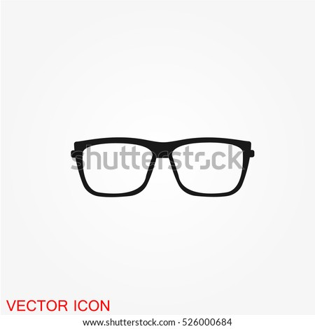 Shutterstock Glasses icon, Glasses icon vector, Glasses icon image, Glasses icon illustration