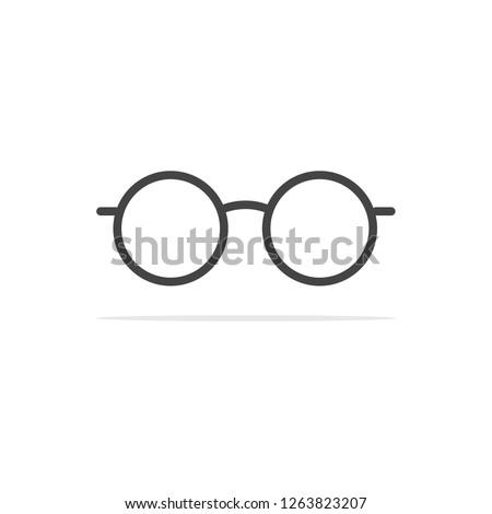 glasses Icon. Vector concept illustration for design.