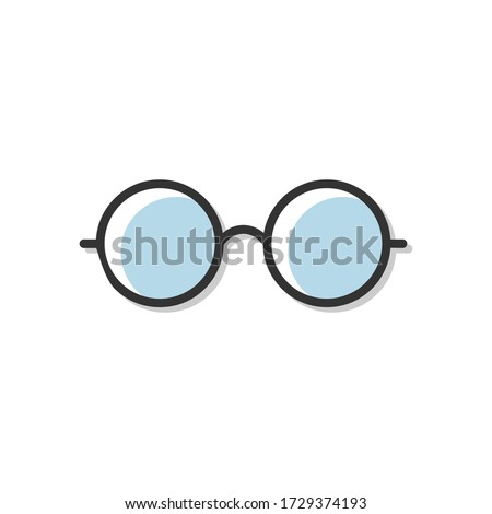 Glasses icon vector illustration isolated on white. Stock foto ©