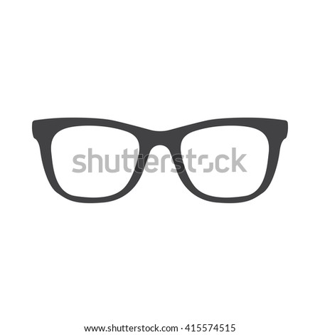 glasses icon Vector Illustration on the white background.