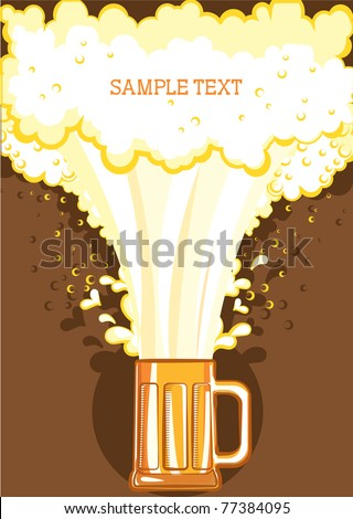 Glasses of beer.Vector color symbol of Illustration for design