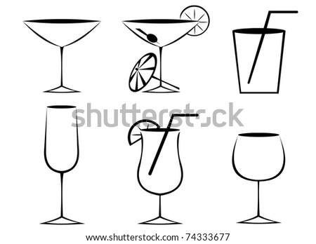 glasses outline