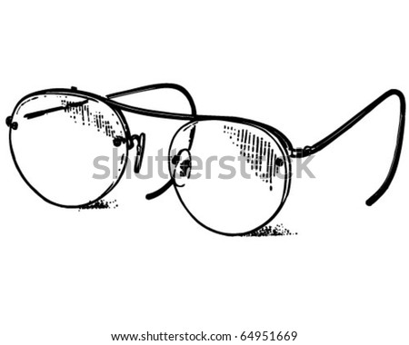 Retro Art Glass Glasses Retro Clipart