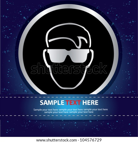 Glasses safety sign,Vector