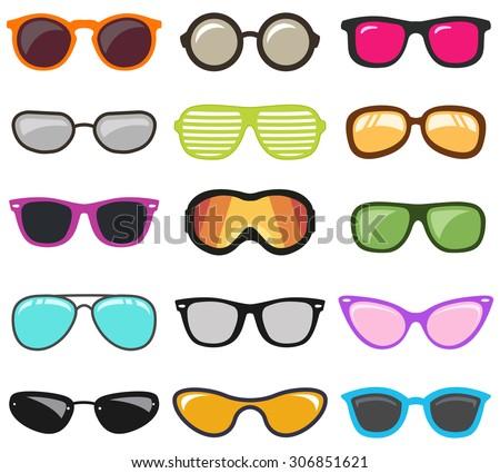 glasses setvector