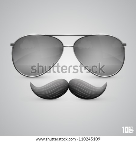 glasses with a mustache