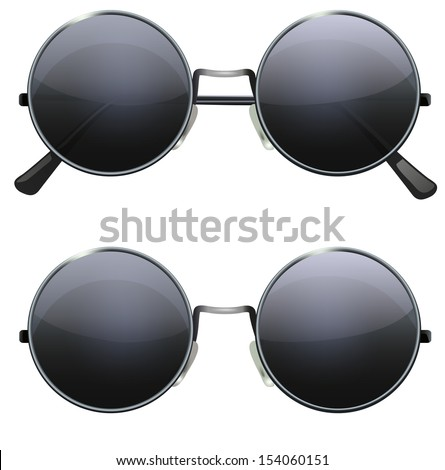 glasses with black round lenses