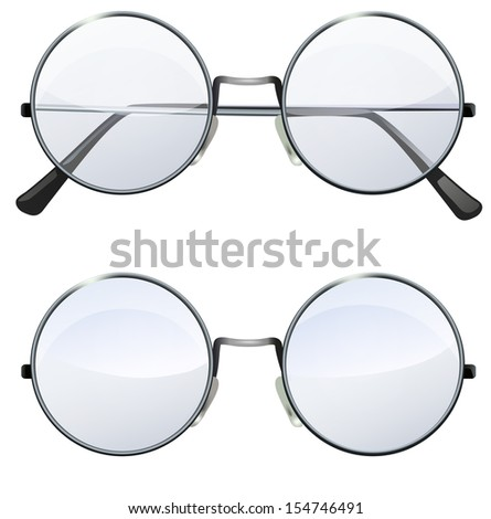 glasses with transparent white