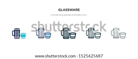 glassware icon in different