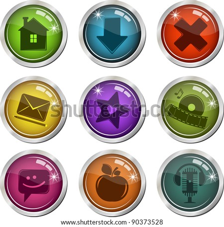 glassy buttons for interface