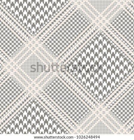 glen plaid pattern in taupe and ...