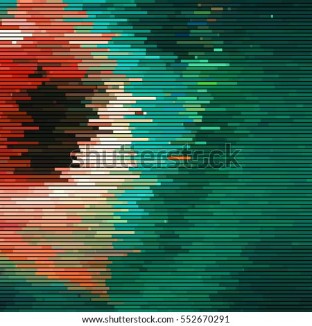 glitch abstract background with