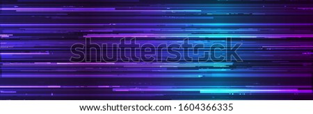Glitch Background. Abstract Noise Effect, Error Video Damage, Stylized Data Corrupted Lines. Vector illustration.