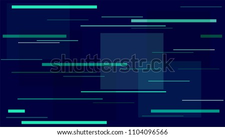 Glitch Glam Vivid Background Street Lights Night City Lines, Stripes. Internet Technology, High Speed Moving Horizontal Polygons. Space Vector Background Neon Geometric Night City Racing Lines.