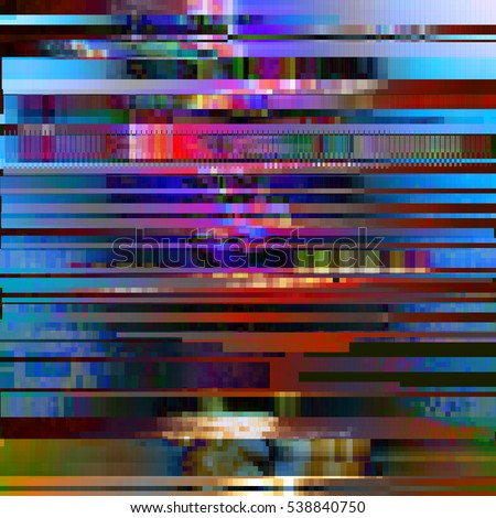 glitched abstract vector