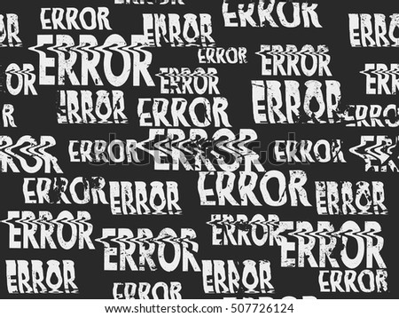 glitched error message art