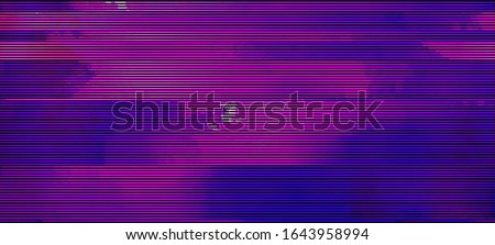 Glitched fluid colors. Abstract glitch background. Futuristic wallpaper. Cyberpunk concept. Colorful techno backdrop with aesthetics of vaporwave style of 80's. EPS 10.
