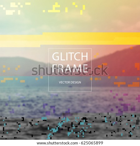 glitched style design template