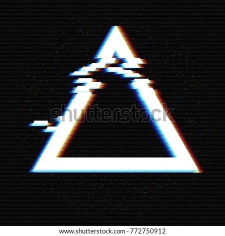glitched triangle frame design