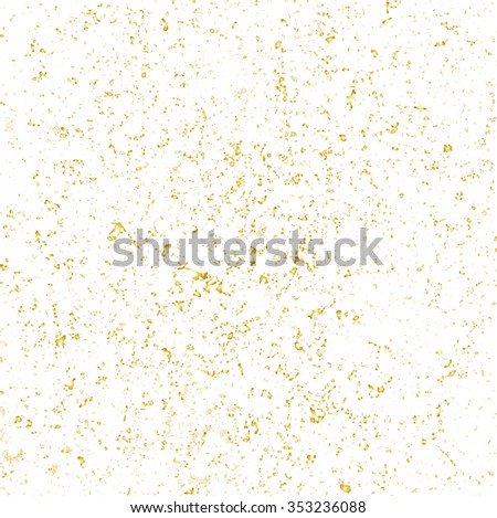 Glitter  Gold Overlay Texture Background. Vector.