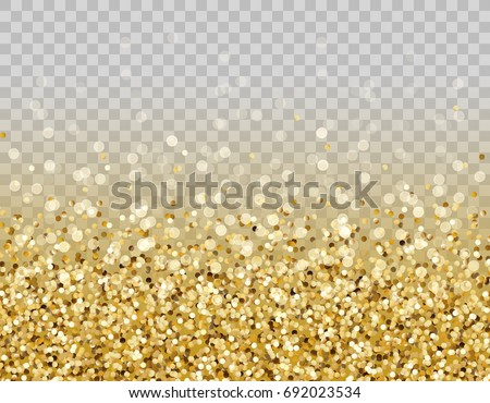 glitter particles effect for luxury greeting rich card vector glow gold shimmer texture border with