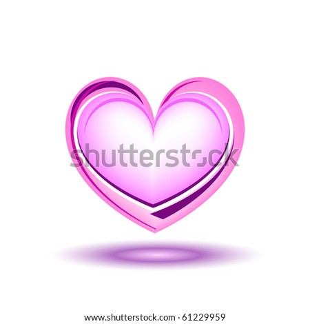 Glitter pink heart, vector illustration