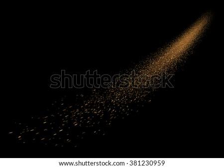 glittering comet falling star