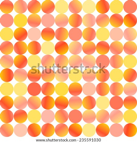 Glittering confetti background of yellow and red circles