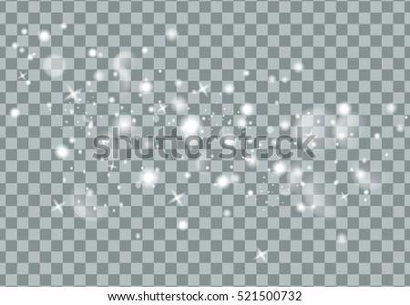 glittering star dust trail