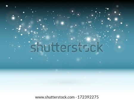 Glittering vector blue background template - Vector shiny design  template background illustration #172392275