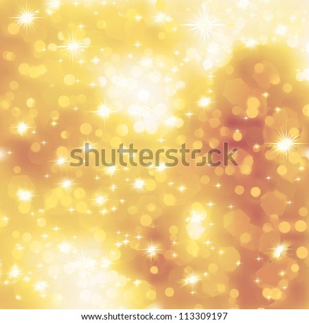 Glittery gold Christmas background. EPS 8 vector file included