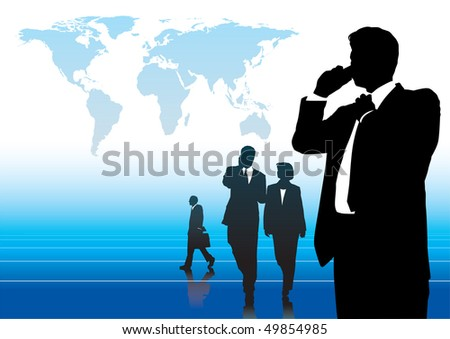Global business - stock vector