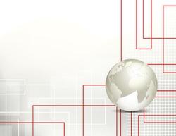 Global business background - technology pattern - globe