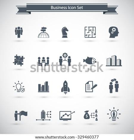 Global Business Icon Set