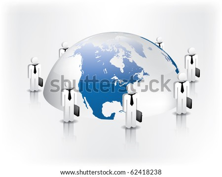 Global business network - stock vector