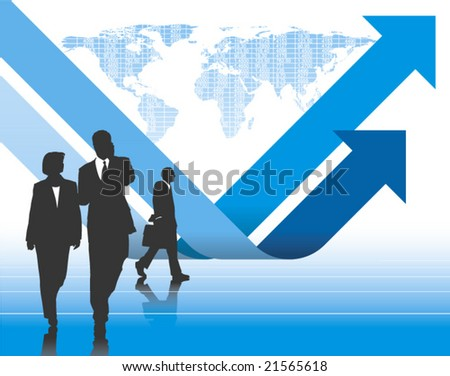 Global Business vector background