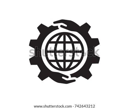 Global Care Logo Template Design Vector, Emblem, Design Concept, Creative Symbol, Icon
