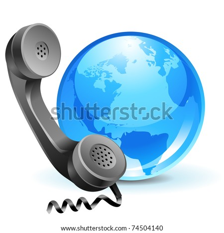 global client support - phone icon with globe