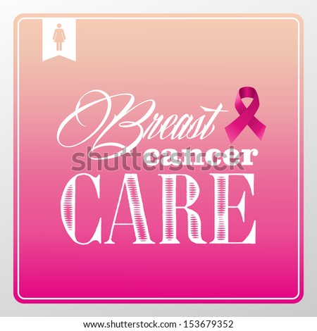 Global collaboration breast cancer awareness concept illustration.Vintag e banner composition EPS10 vector file organized in layers for easy editing