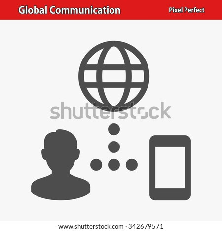 Global Communication Icon. Professional, pixel perfect icon optimized for both large and small resolutions. EPS 8 format.