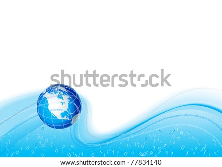 Global Communication. Vector abstract background with globe