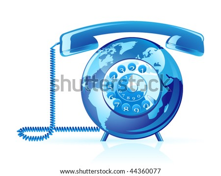 Global communication vector icon - stock vector