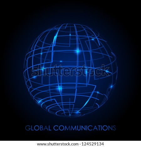 global communications   vector