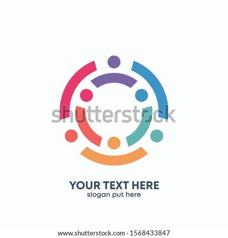 Global Community Logo Icon Elements Template. Community human Logo template vector. Community health care. Abstract Community logo - vector